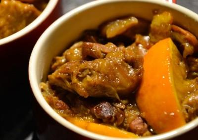 Saute d'agneau a l'orange